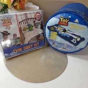 DISNEY 🆕️ Toy Story 4 Sheet SET +🆕️ Sleeping bag